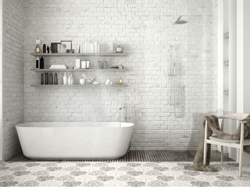 Painted vintage bathtub