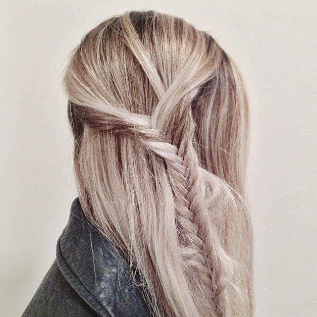 Thin Side Fishtail Braid hairstyle