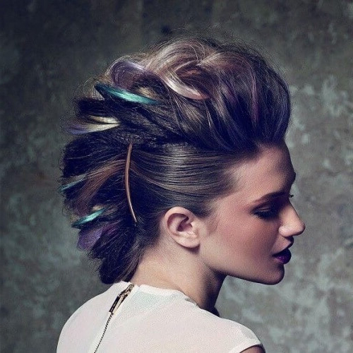 Braided Faux Hawk with Highlights
