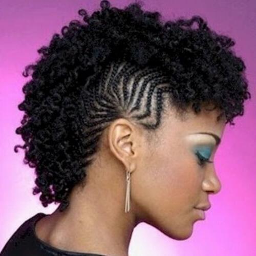 Mohawk Cornrows Braids Hairstyle
