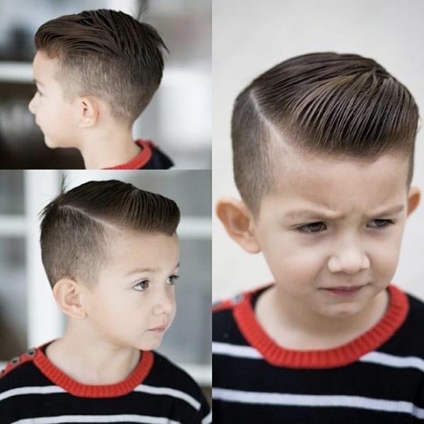 Neat Side Part Little Boy