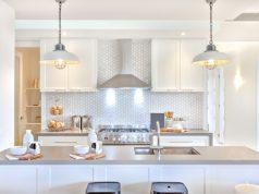 Bright, modern kitchen with backplash